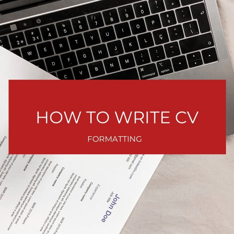How to format a CV