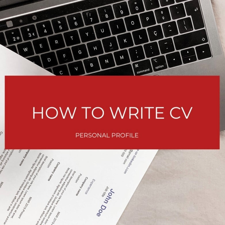 How to write a personal profile for a CV