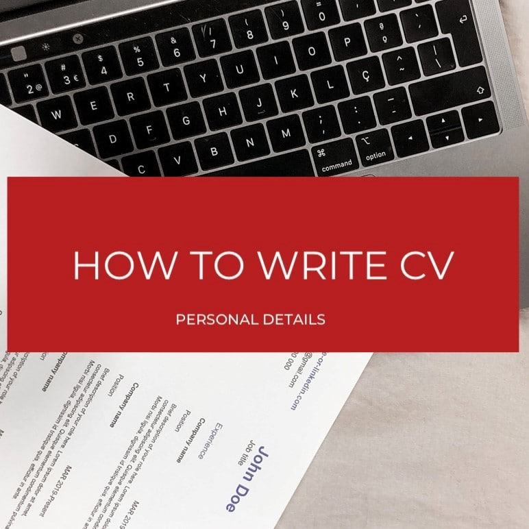 Personal Details on a CV