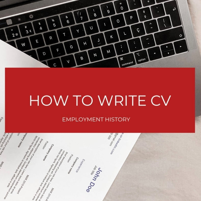 How to write an employment history for a CV